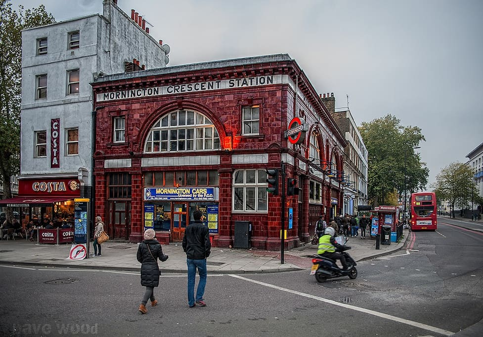Mornington Crescent Station is the closest station and takes 2 min. walk.