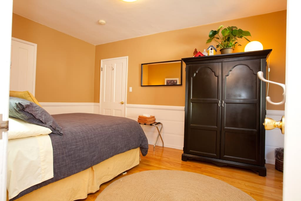 Sunny inviting bedroom