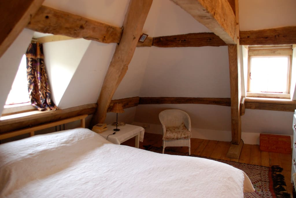 Attic double room - many beams and big views