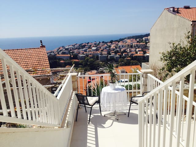 Apartment for 4 with terrace & view - Dubrownik - Apartament