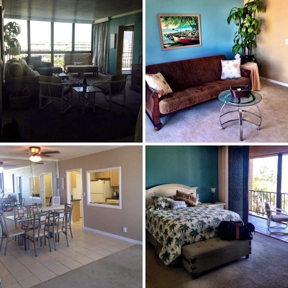 Living room ,and dining room , master and middle bedroom.