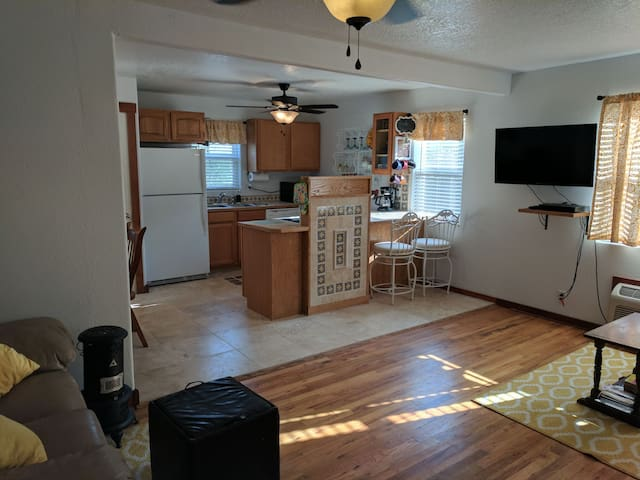 when entering the front door you will see a newly remodeled kitchen and sitting room.