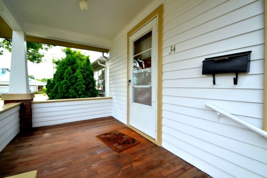 Spacious and inviting front porch
