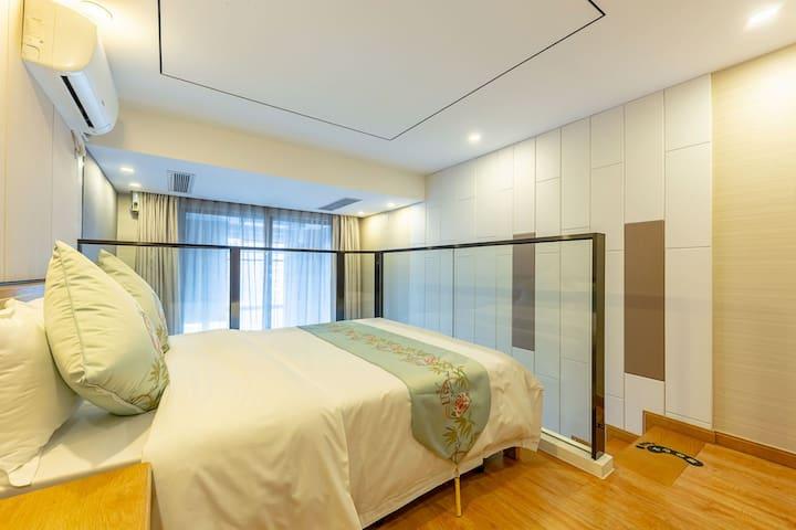 滨江康康谷归享酒店豪华新中式主题大床房(区政府地铁一号线滨和站出口)