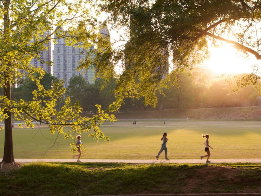Piedmont Park oval sports and fields