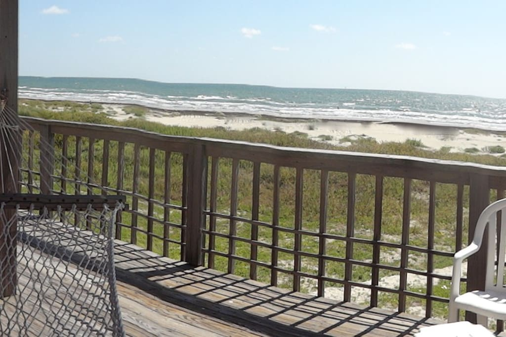 front row view from wraparound  enclosed deck