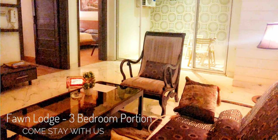 Fawn Lodge-3 Bedroom Portion-Tv,Wifi,A/c & Heating