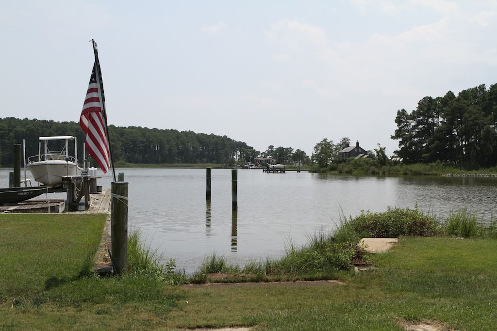 Dock and boat ramp