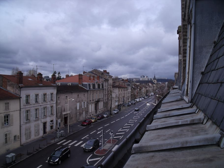 la vue depuis la fenêtre de la chambre