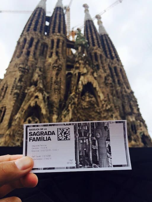 La Sagrada Familia (the holy family) . top visited monument in Barcelone