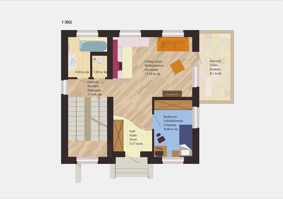 2 этаж (1st floor, 1.G)