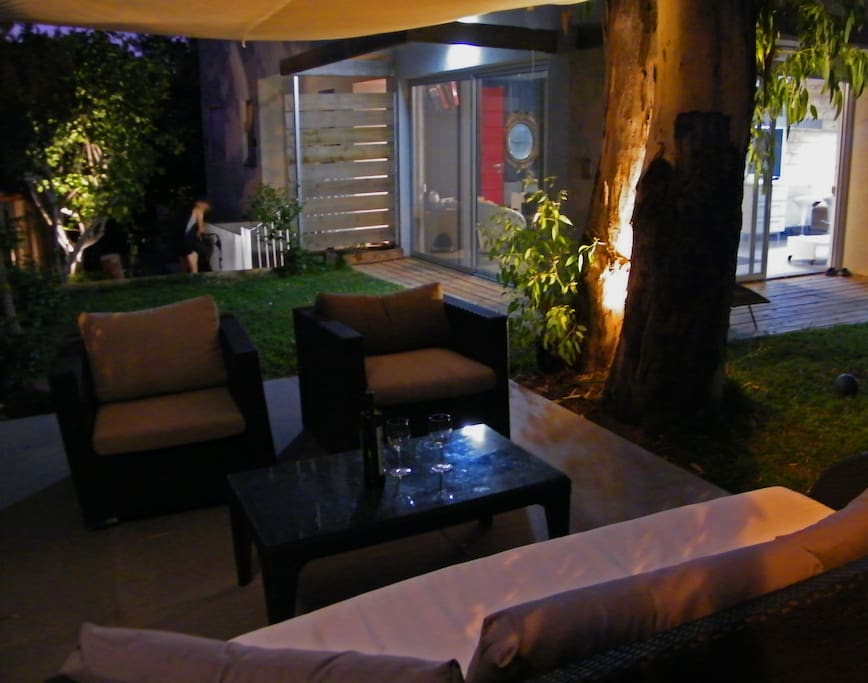 Our garden offer a  resort in the middle of the city.