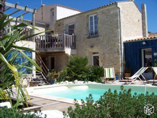 Appart 2 chambres terrasse piscine - Saint-Georges-d'Oléron - Wohnung