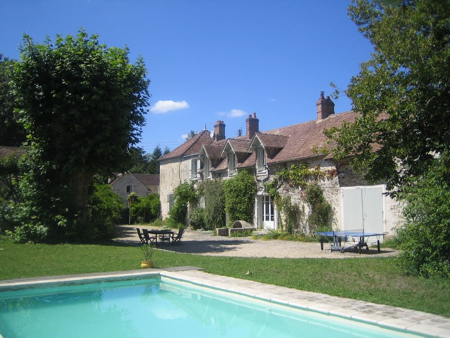 charming family house swimming pool houses for rent in bourron marlotte le de france france. Black Bedroom Furniture Sets. Home Design Ideas