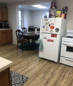 natural light filled private room w/ friendly pets