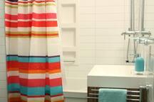 Moderne avec douche-pluie et massage