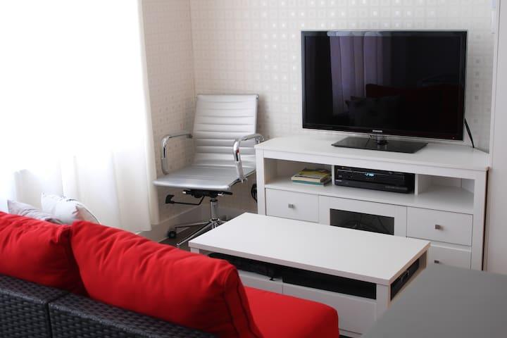 Smart TV 40'' avec décodeur-enregistreur et lecteur Blue-Ray. Internet sans fil.
