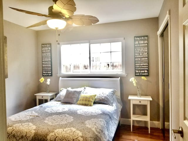 Clean, modern room in a centrally located house