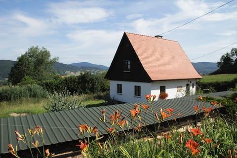"""Beautiful traditional cottage! """"Pod różą kłodzką"""""""