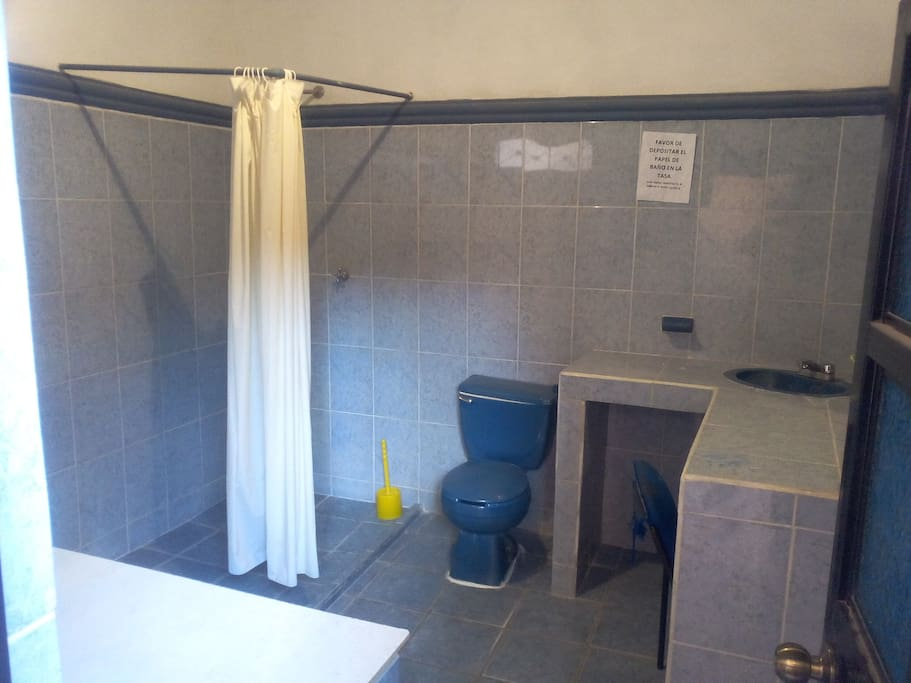 Recently remodelled bathroom with shower just down the hall.