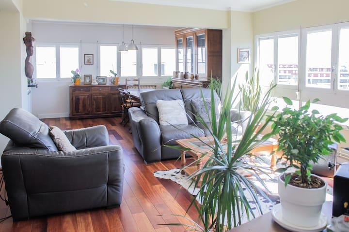 Cozy sunny room / view park