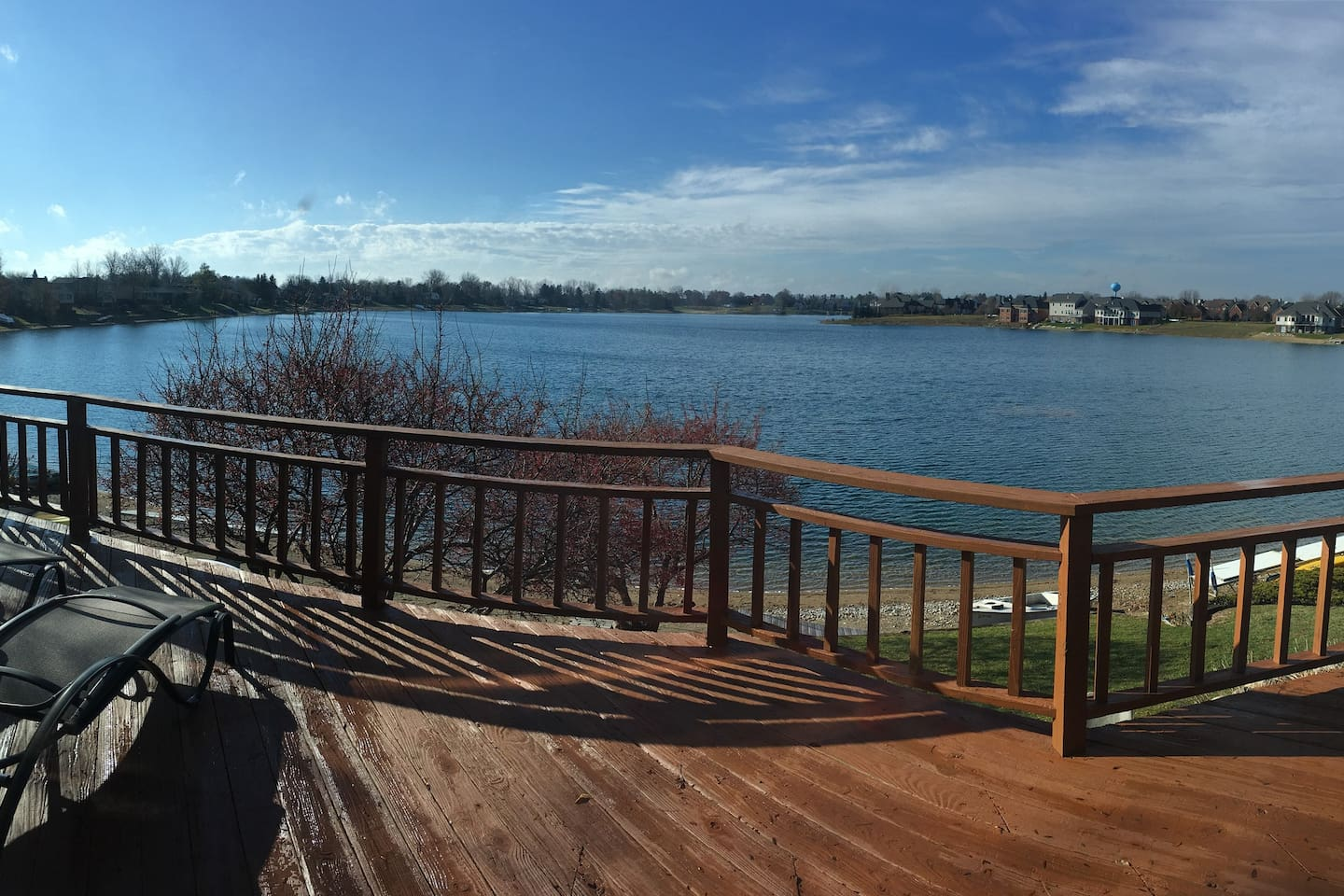 Beautiful view of Oxford Lake from house balcony