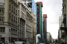 Centre Pompidou is just at the corner of the street