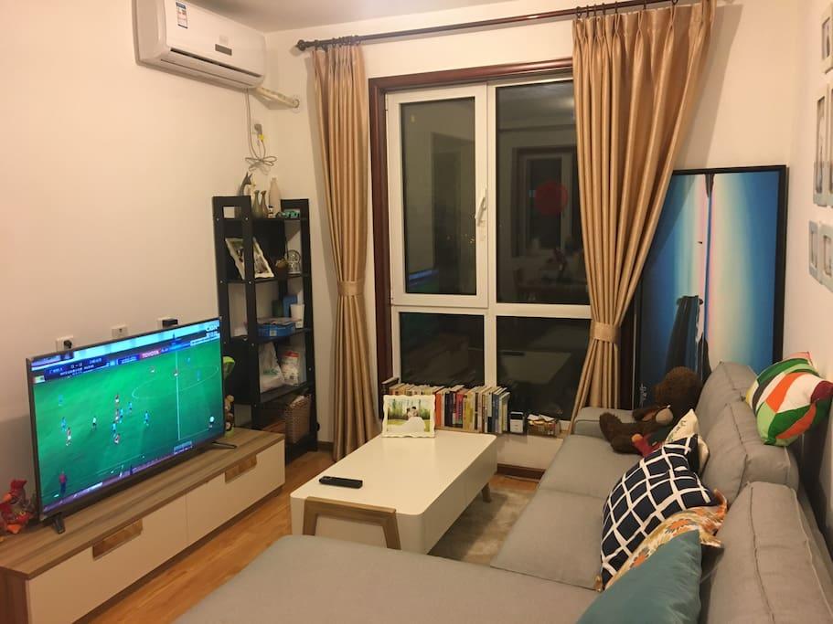 客厅有个大电视