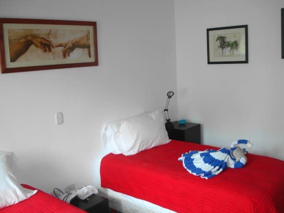 Guest bedroom, 2 pillow top singles