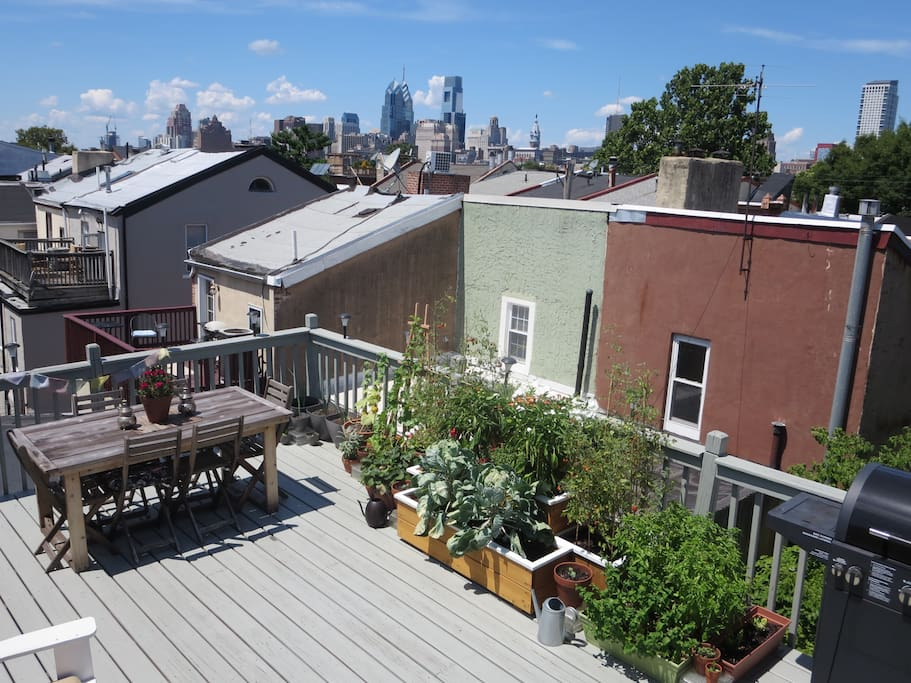 Private roof top deck with garden