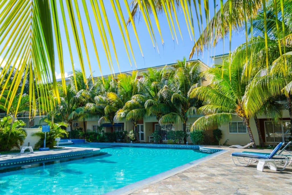 S jour tropical dans r sidence avec piscine a3 for Campement a louer a flic en flac avec piscine