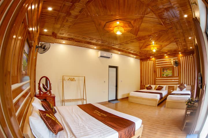 Mountain view - 3 Single beds, close to TRANG AN