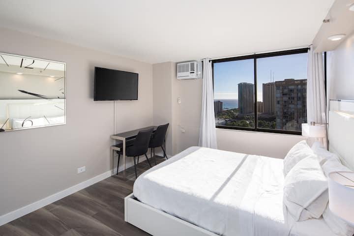 Private Modern Luxury Studio B Waikiki Ocean View