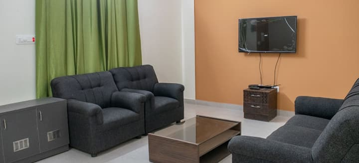 Fully furnished 2BHK for short/long term stay