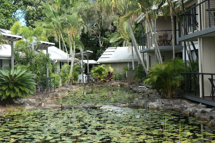 Nestled in 7 ha lush tropical garden and lagoons