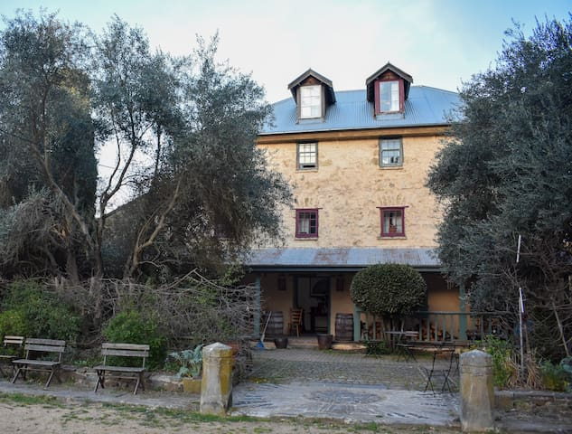 Unique Tuscan style farmhouse and grounds