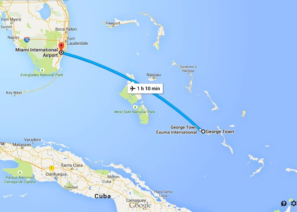 Daily flights to George Town (GGT) on American Airlines