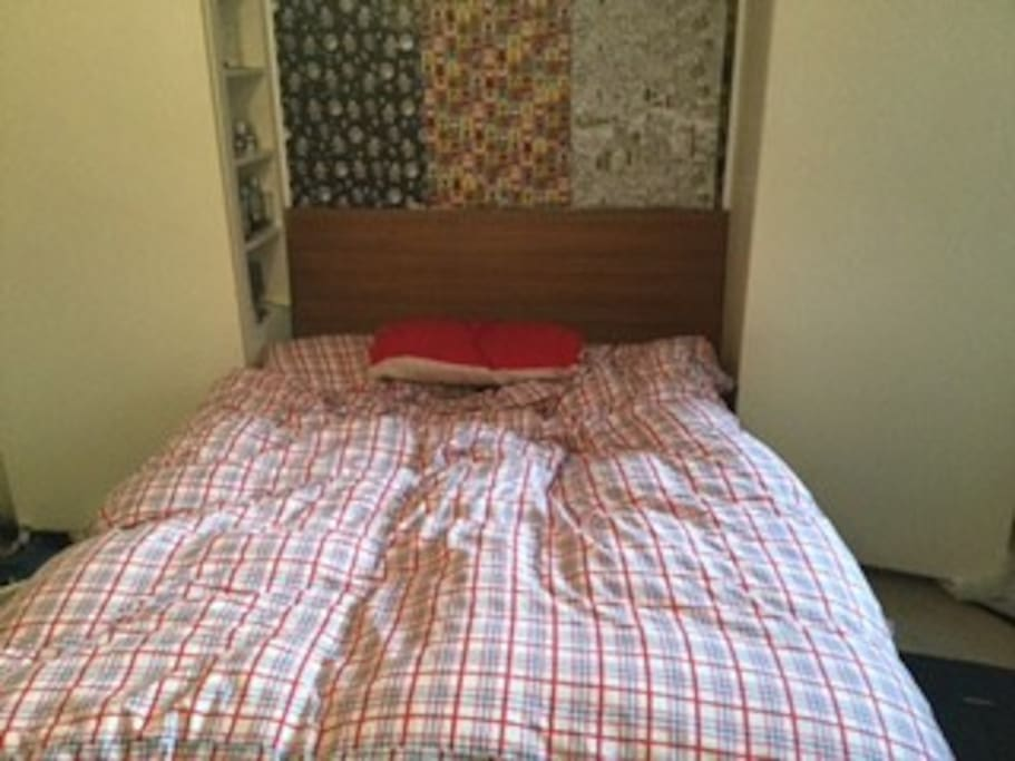 Big double bed, folds away if you want to practice your foxtrot.