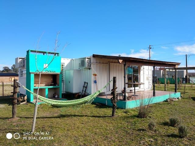 Casa container en Gardey para dos + 1.....!