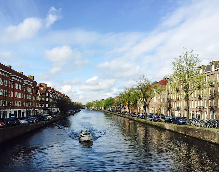 One of the famous Canals of Amsterdam; De Kostverlorenvaart.