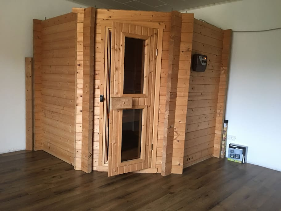 Sauna for up to 5 people.