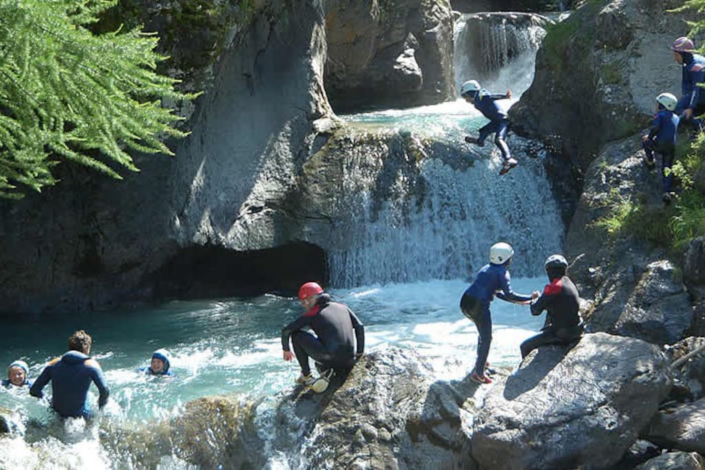 CANYONING: descending the most spectacular canyons of our valley, to book contact Maurizio via air bb at least 2days in advance.