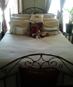 QueenSize Bed in the Master Bedroom