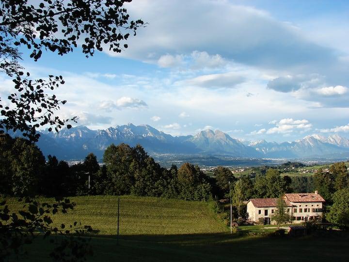 Dolomites scenery,  Coldineve house