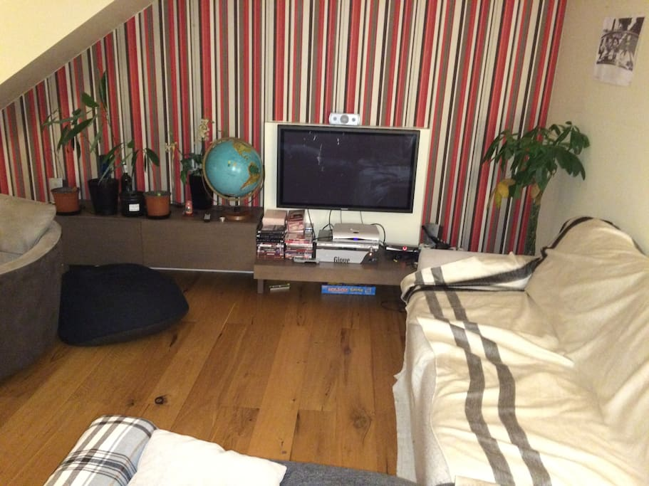Corner sofa and TV