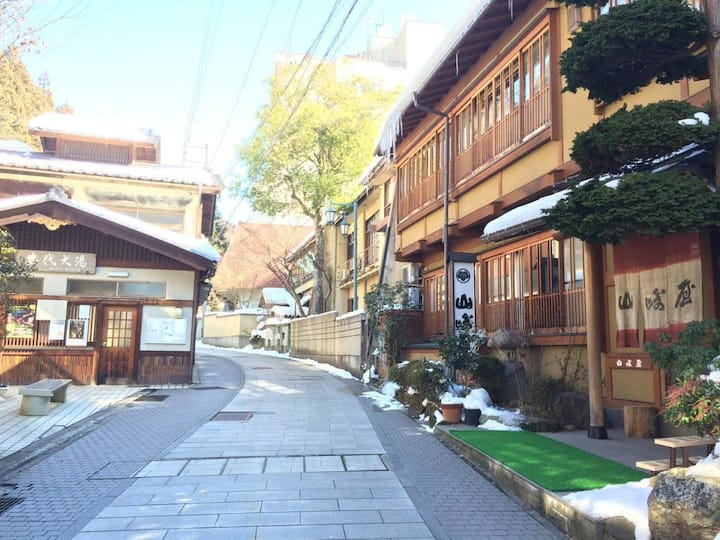 Nostalgic Hot Spring Ryokan close to Jigokudani Wild Monkey Park