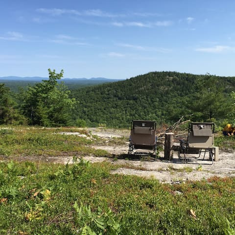Hike-in yurt on top of Maine Mt. - Orland - Jurta