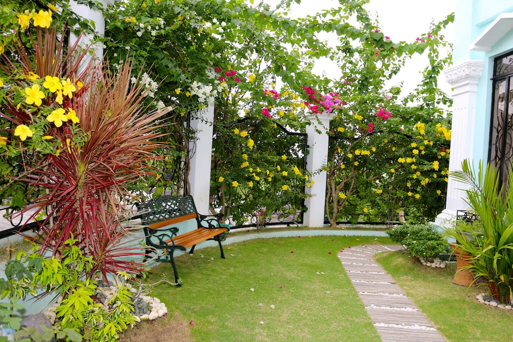 Enjoy nature from the comfort of our small garden