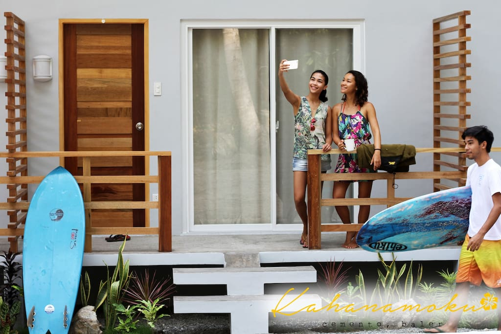 Each room is private with air-conditioning, its own T&B and balcony