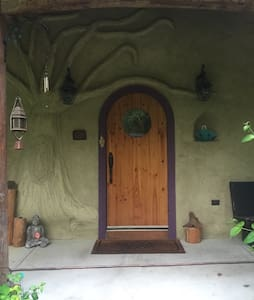 Straw Bale Home. Second Room.